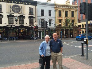 Mom and dad in Dublin